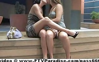 ftv charming lesbos kissing and fingering wet