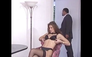 classic scene with a sexy honey taking dicks -