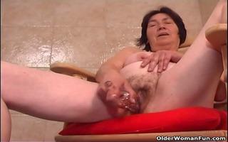 over 44 granny with unshaved obscene cleft bonks