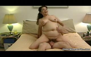 overweight granny sucks grandads pecker
