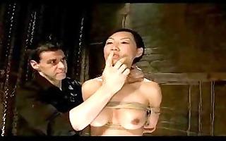 oriental girl disciplined as villein bondaged