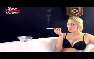 smokin fetish - hot golden-haired smokes with a