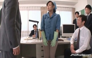 wicked oriental babe is cleaning the office part6