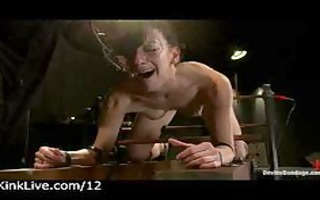 belted sweetheart gets electro shocks in dungeon