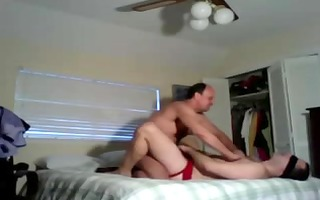 chap disrobes to fuck bound and blindfolded
