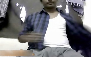 indian man wanks no cum