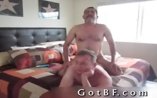 bearded dad copulates his paramour in the arse 0