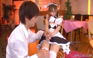 oriental teenage maiden acquires bawdy cleft