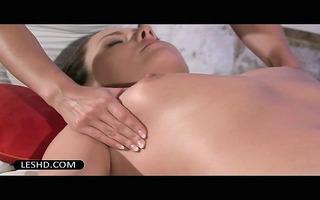 in nature merry lesbo enjoying a butt massage