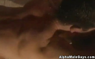 homosexual muscle hunks steamy shower session