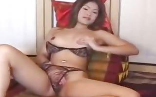non-professional oriental beauty does a hawt clip