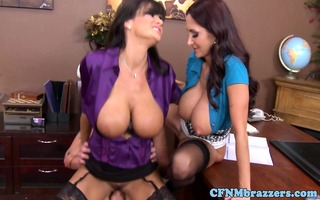 excellent cfnm action with breasty lisa ann
