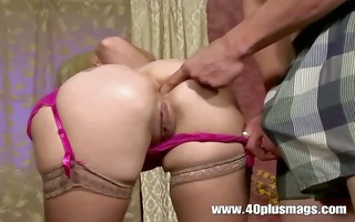 shy housewife playing in a porn