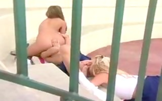 ashton moore, lesbo starlet tennis court lovin