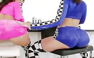 elegant ice jizz in their lesbo anals
