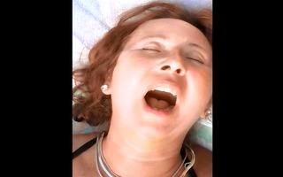 a mature large charming woman darksome brown