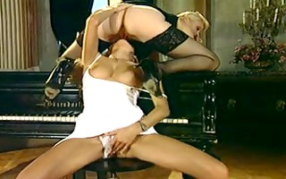 golden-haired lesbians in hot lez act