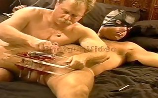 crushing hirsute hunks balls in my vise. during
