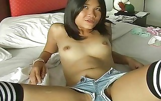 luscious oriental ex girlfriend plays with her