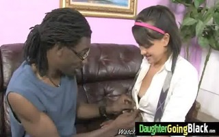 my youthful daughter nailed by cool dark