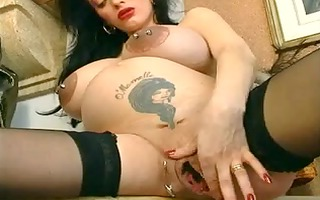 enormous pierced fetish bitch operl prego and
