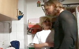 hawt golden-haired german granny group-fucked in