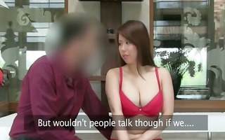 oriental sweetheart with large tits fucking on