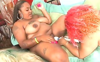 mad dark plump lesbos fuck each other