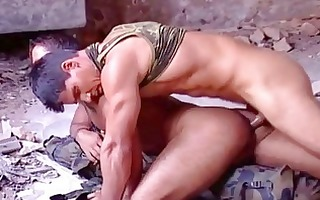 beefy army homo ribald wazoo fuck drill