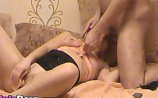 wife playing with pussy whilst engulfing weenie