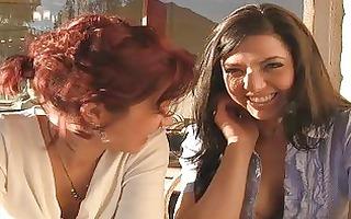 rita and madeline superb brunette hair lesbo