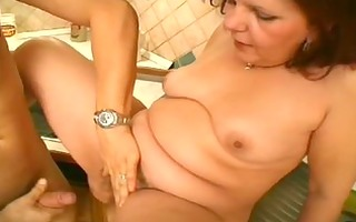 all natural bushy cunt and large bumpers - scene 0