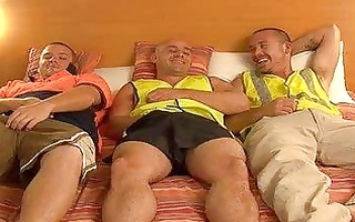 construction workers meet after work