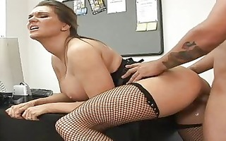 big tit boss fucking me in her office