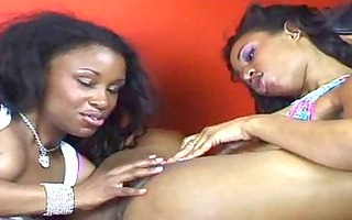 sexy ebonies munch on their privates