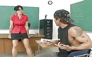 sexually excited older teacher pounded after class