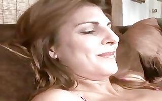 breasty older explores her body