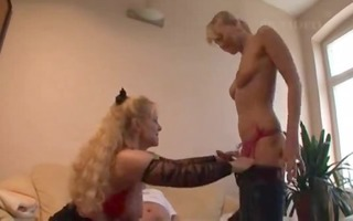 favourable mature fellow has sex with mama and