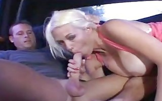 tanned golden-haired mother i cookie drilled in