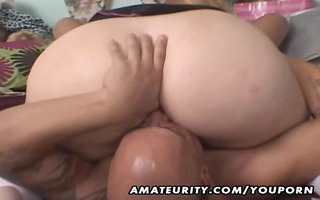 older dilettante bulky floozy anal and oral-job