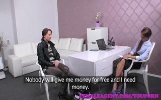 femaleagent agent dominates cash motivated angel