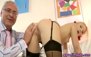 older lad younger beauty fuck and sex tool