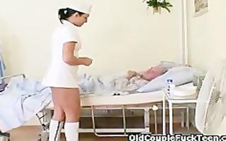 old man bonks hawt excited nurse
