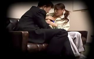japanese house wife creampied by her boss