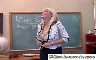 saucy mother i teaches about her cum-hole