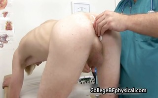 corey acquires his knob examined and receives