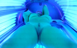 non-professional wife in solarium