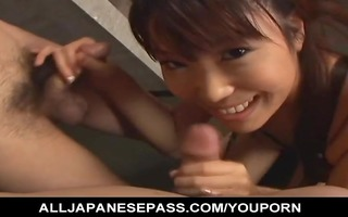 japanese mistress sucks her boy-toys off