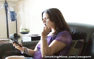 hawt milf makes herself trio coffee during the