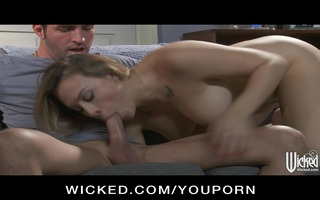 perverted brunette hair wife chanel preston tries